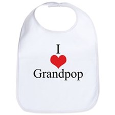 I Love (Heart) Grandpop Bib