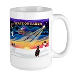 XmasSunrise/Min Pinscher Large Mug