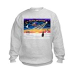 XmasSunrise/Min Pinscher Kids Sweatshirt