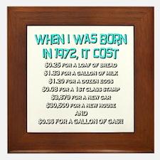 Price Check 1972 Framed Tile