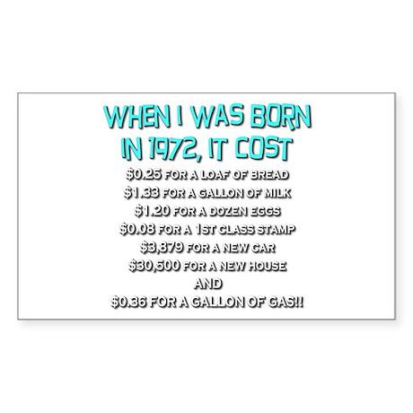 Price Check 1972 Rectangle Sticker