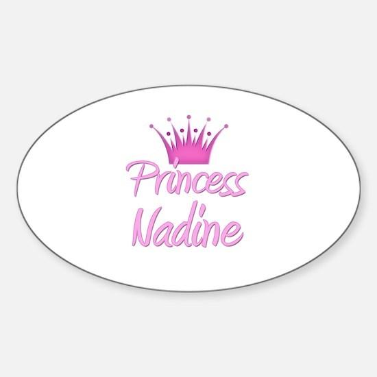 Princess Nadine Oval Decal