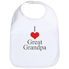 I Love (Heart) Great Grandpa Bib