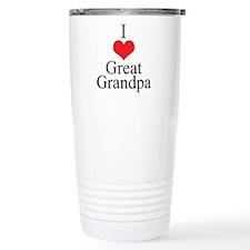 I Love (Heart) Great Grandpa Travel Mug