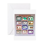 Very Puzzling rebus puzzles Greeting Card