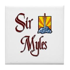 Sir Myles Tile Coaster