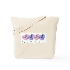 Hearts and Ribbons Tote Bag