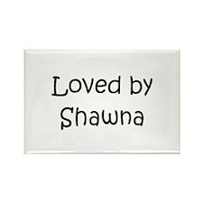 Cute Shawna Rectangle Magnet