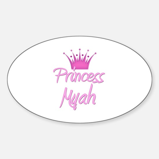 Princess Myah Oval Decal