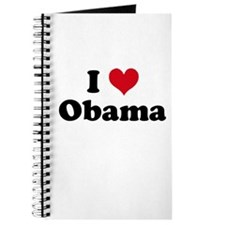 Unique I heart obama Journal