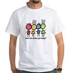 Let's Get Along White T-Shirt