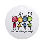 Let's Get Along Ornament (Round)