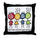 Let's Get Along Throw Pillow