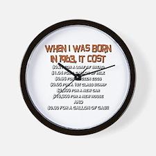 Price Check 1963 Wall Clock