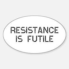 Resistance Futile Bumper Stickers