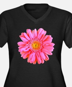 Gerbera (Bright Pink) Women's Plus Size V-Neck Dar