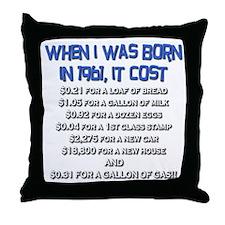Price Check 1961 Throw Pillow
