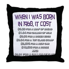 Price Check 1960 Throw Pillow