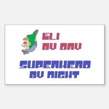 Eli - Super Hero by Night Rectangle Decal
