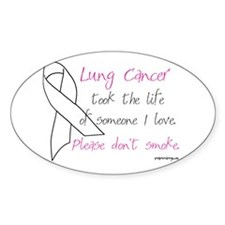 Lung Cancer Awareness - Oval Decal