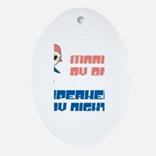 Maria - Super Hero by Night Oval Ornament