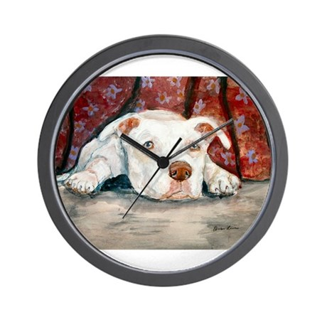 Siouxise a Pit Bull Wall Clock
