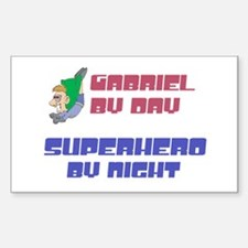 Gabriel - Super Hero by Night Rectangle Decal