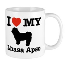 I love my Lhasa Apso Small Mug