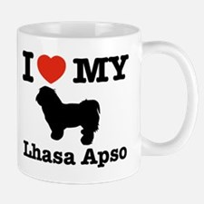 I love my Lhasa Apso Small Small Mug