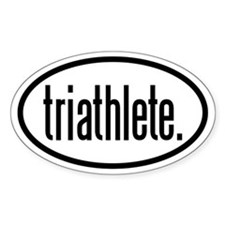 triathlete Oval Decal