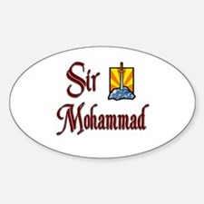 Sir Mohammad Oval Decal