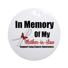 InMemoryMIL Lung Cancer Ornament (Round)
