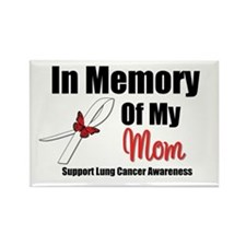 InMemoryMom Lung Cancer Rectangle Magnet