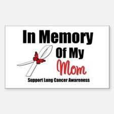 InMemoryMom Lung Cancer Rectangle Sticker 10 pk)