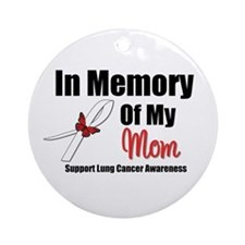 InMemoryMom Lung Cancer Ornament (Round)