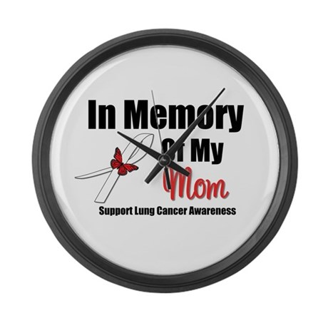 InMemoryMom Lung Cancer Large Wall Clock