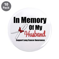 "InMemoryHusband LungCancer 3.5"" Button (10 pack)"