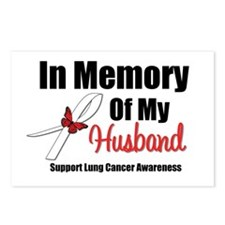 InMemoryHusband LungCancer Postcards (Package of 8
