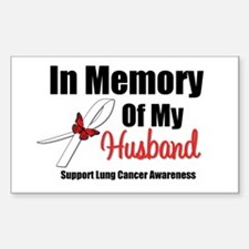 InMemoryHusband LungCancer Rectangle Sticker 10 p