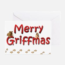 Brussels Griffon Griffmas Greeting Cards (Pk of 10