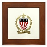 ROULEAU Family Crest Framed Tile