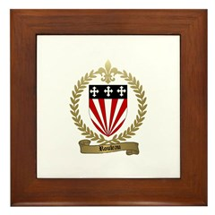 ROULEAU Family Crest Framed Tile