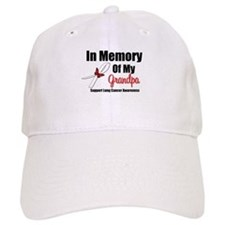InMemoryGrandpa Lung Cancer Baseball Cap