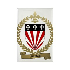 ROULEAU Family Crest Rectangle Magnet (100 pack)