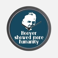 Hoover more humanity. Wall Clock