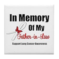 InMemoryFIL Lung Cancer Tile Coaster