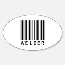 Welder Barcode Oval Decal