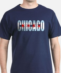 Chicago Flag Font T-Shirt