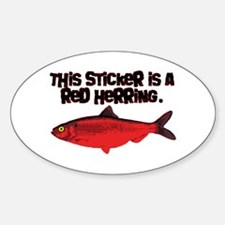 'Red Herring' Writer Oval Decal