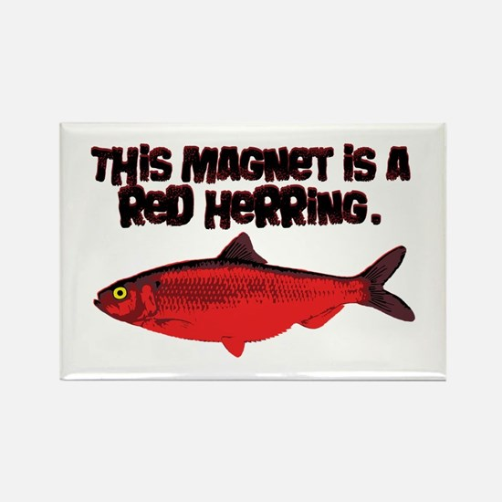 'Red Herring' Writer Rectangle Magnet